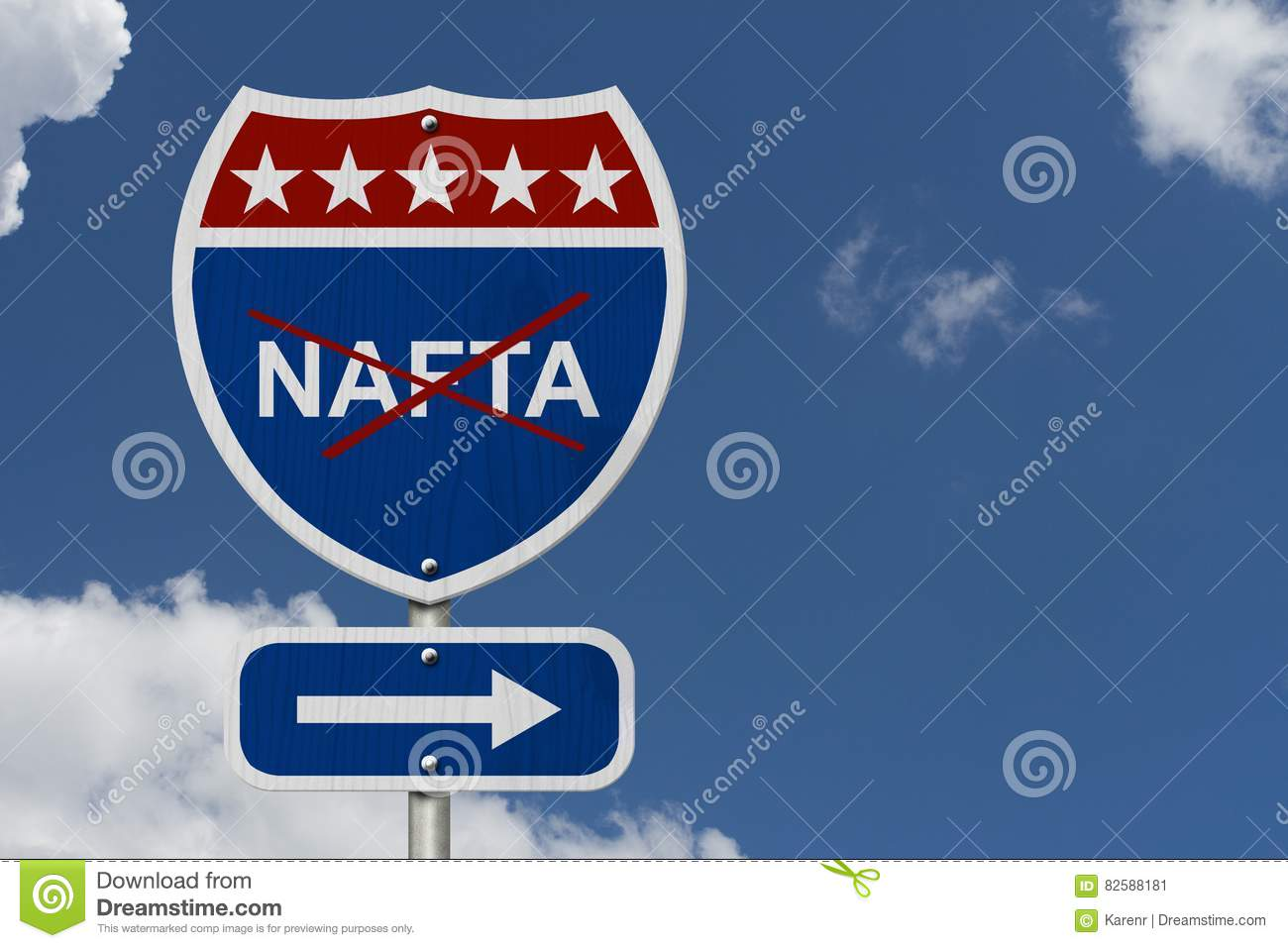 North American Free Trade Agreement Sign Stock Image Image Of