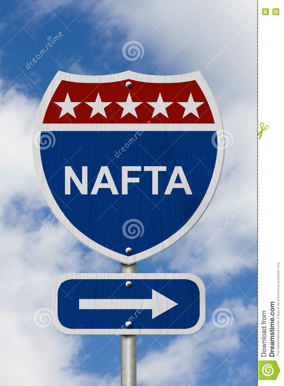 North American Free Trade Agreement Sign Stock Photo Image Of
