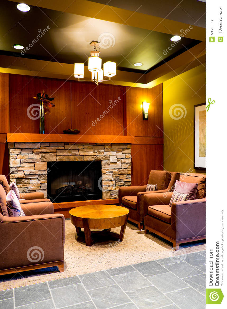 North American Style Living Room Living Room Stock Photo Image 59513864