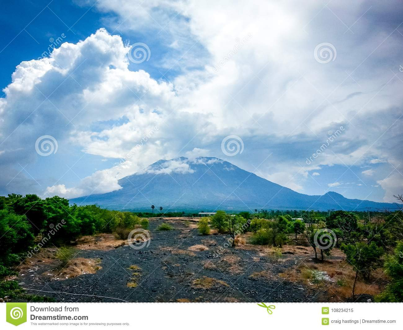 North Bali Volcano Landscape Indonesia Stock Image Image Of Highly