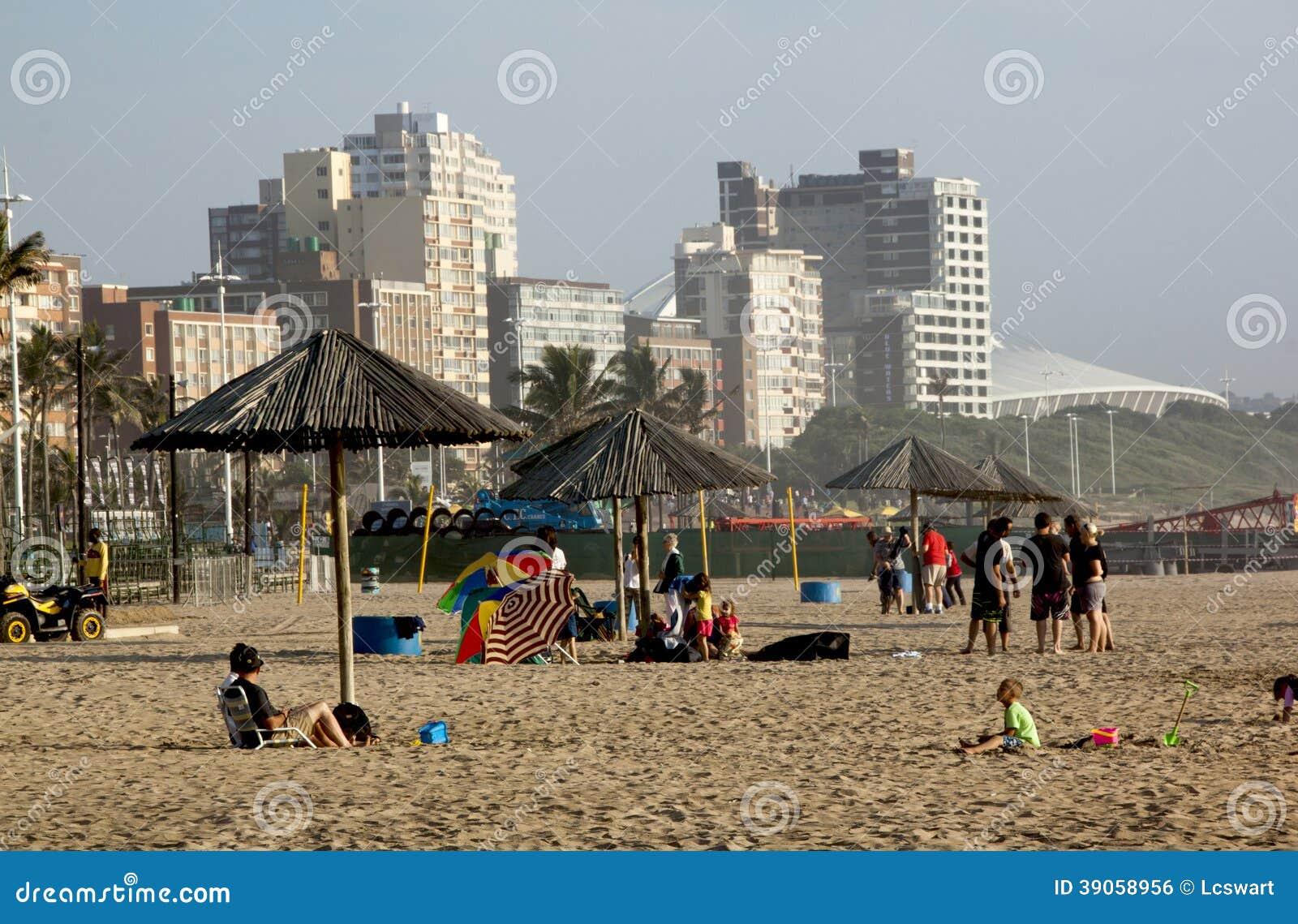 North Beach Beachfront In Durban South Africa Editorial