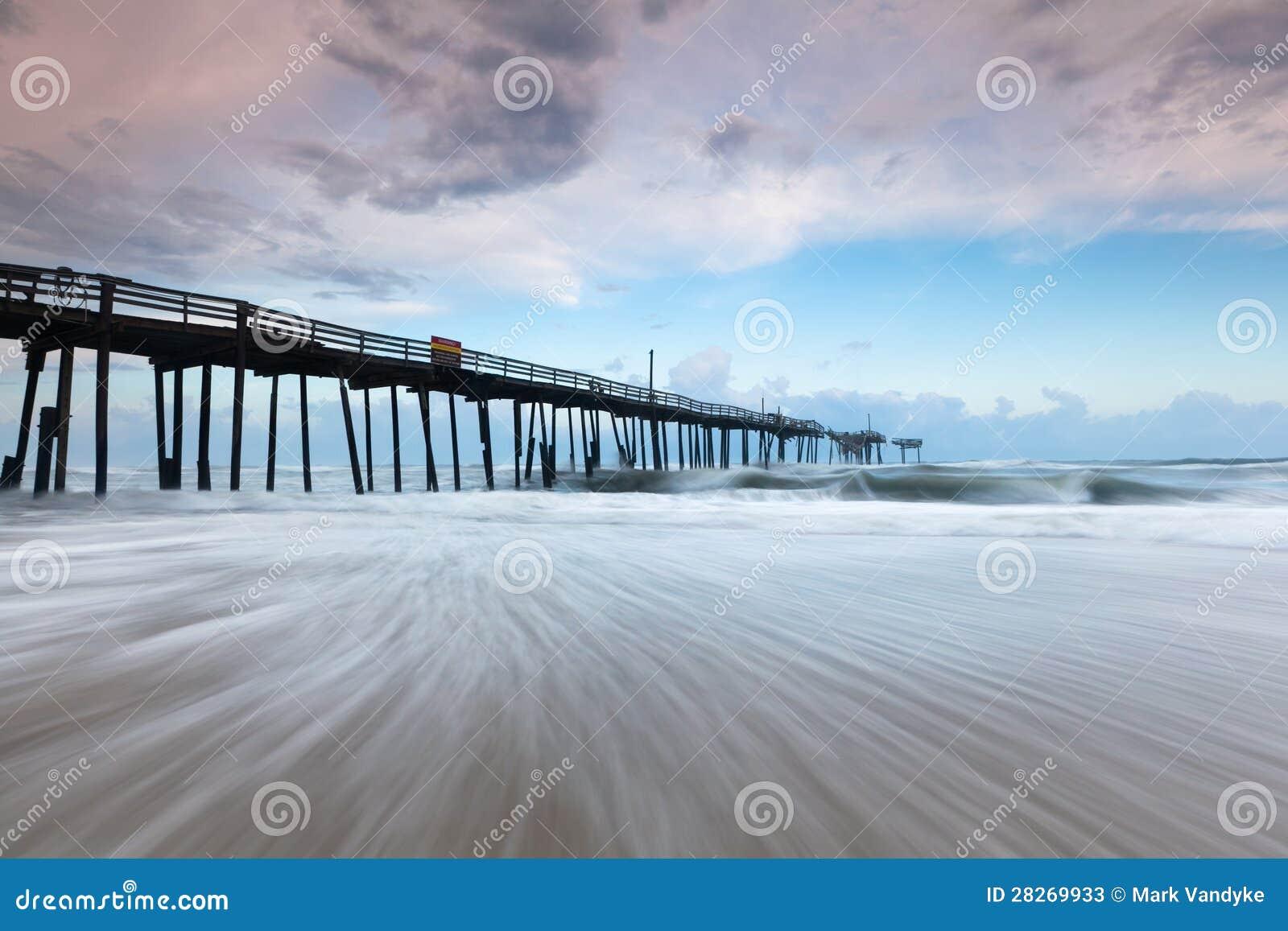 North Carolina-äußere Querneigungs-aufgegebener Fischen-Pier