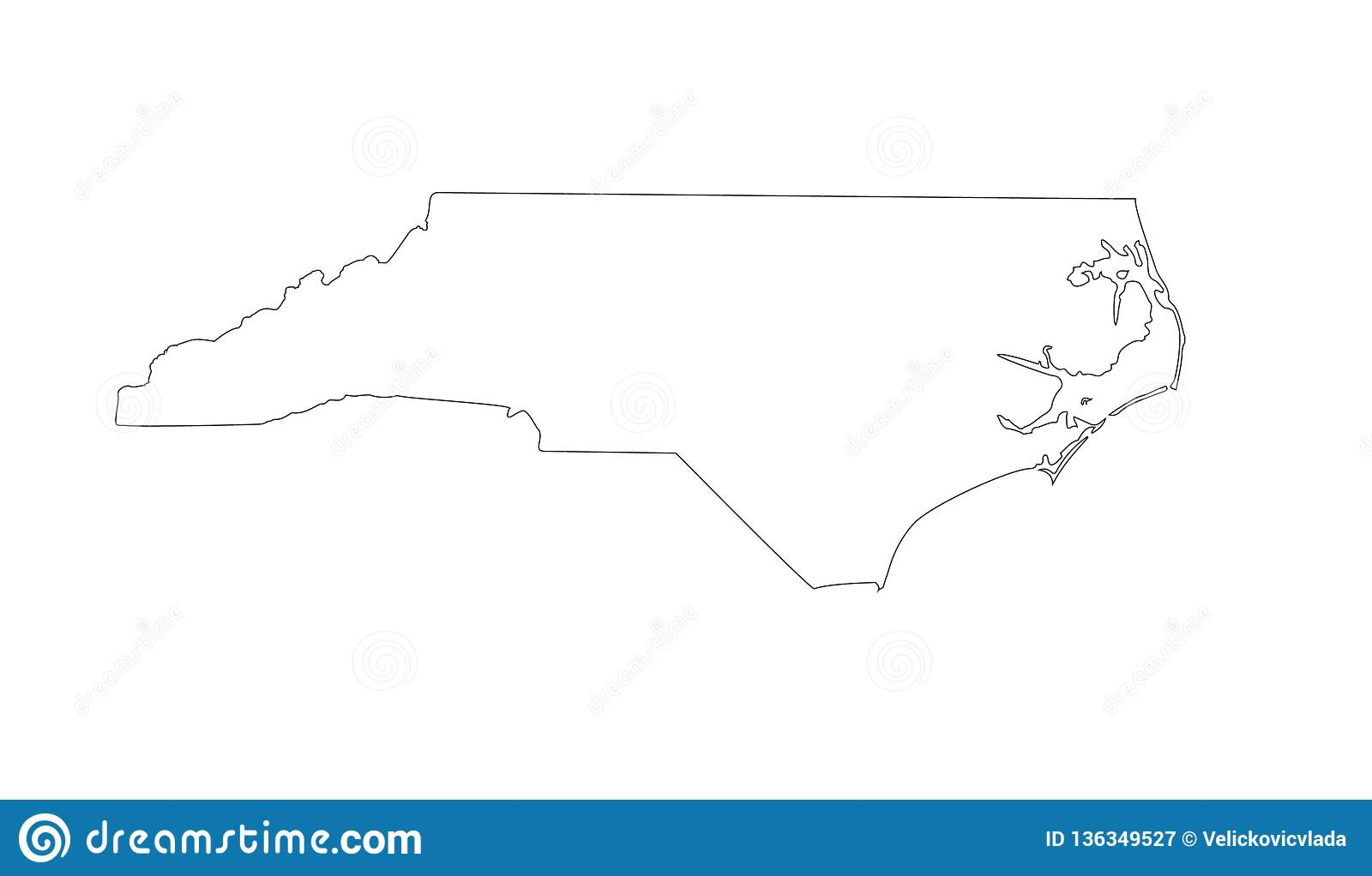 North Carolina Map - State In The Southeastern Region Of The United ...