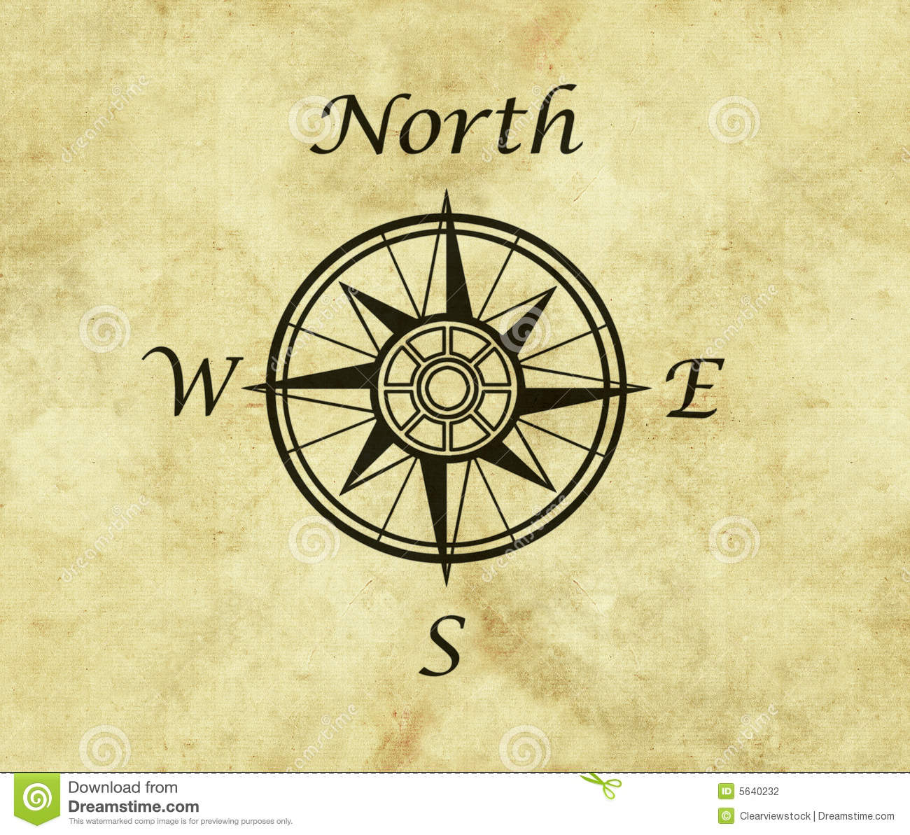 Compass On Map North compass map arrow stock illustration. Illustration of north  Compass On Map