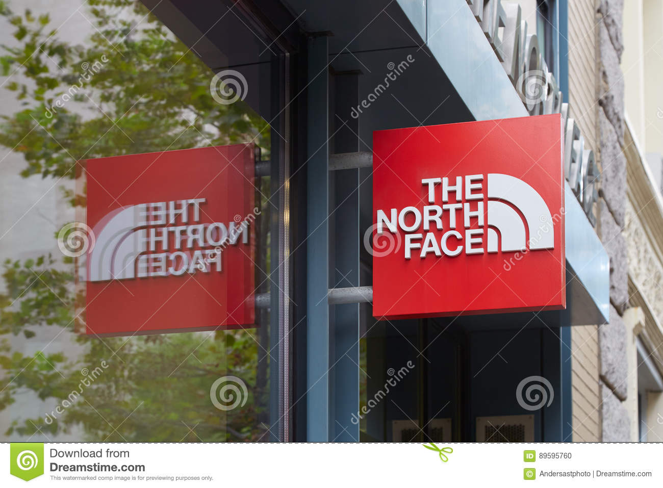 The North Face Store Sign In Wooster Street New York Editorial