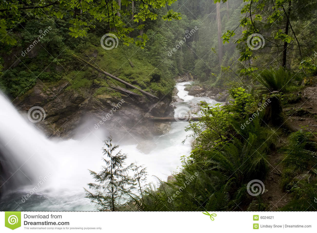 North Fork Falls Stock Image Image 6024621