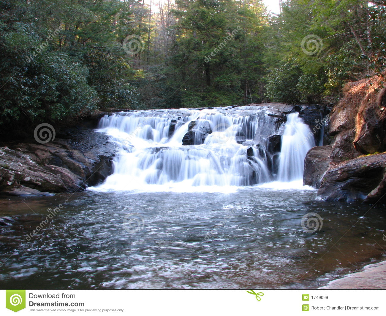 North Georgia Waterfall Royalty Free Stock Images Image