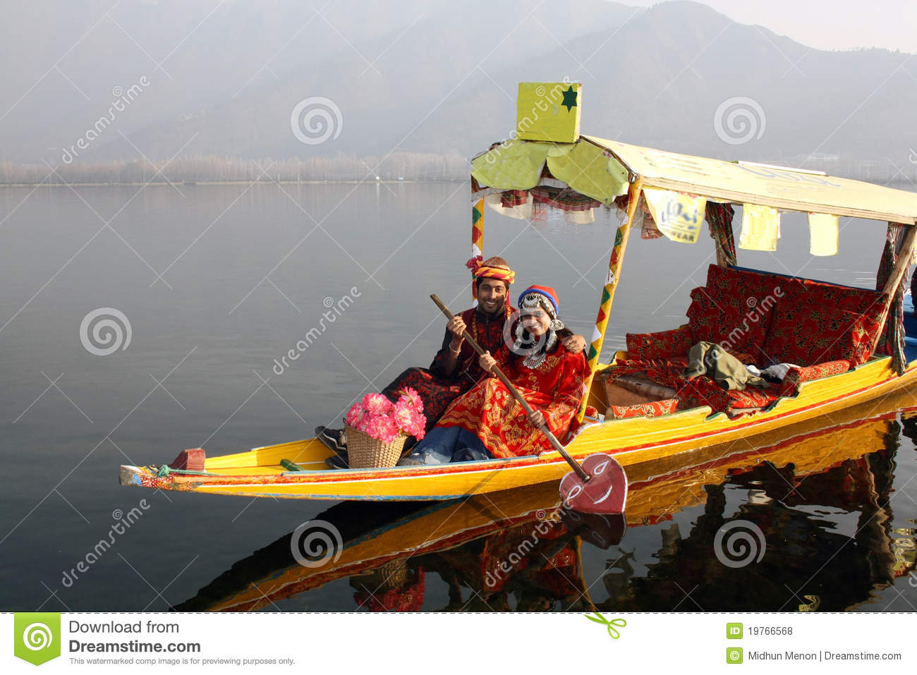 68e512581a North Indian Couple Riding Shikara Boat Stock Photo - Image of ...