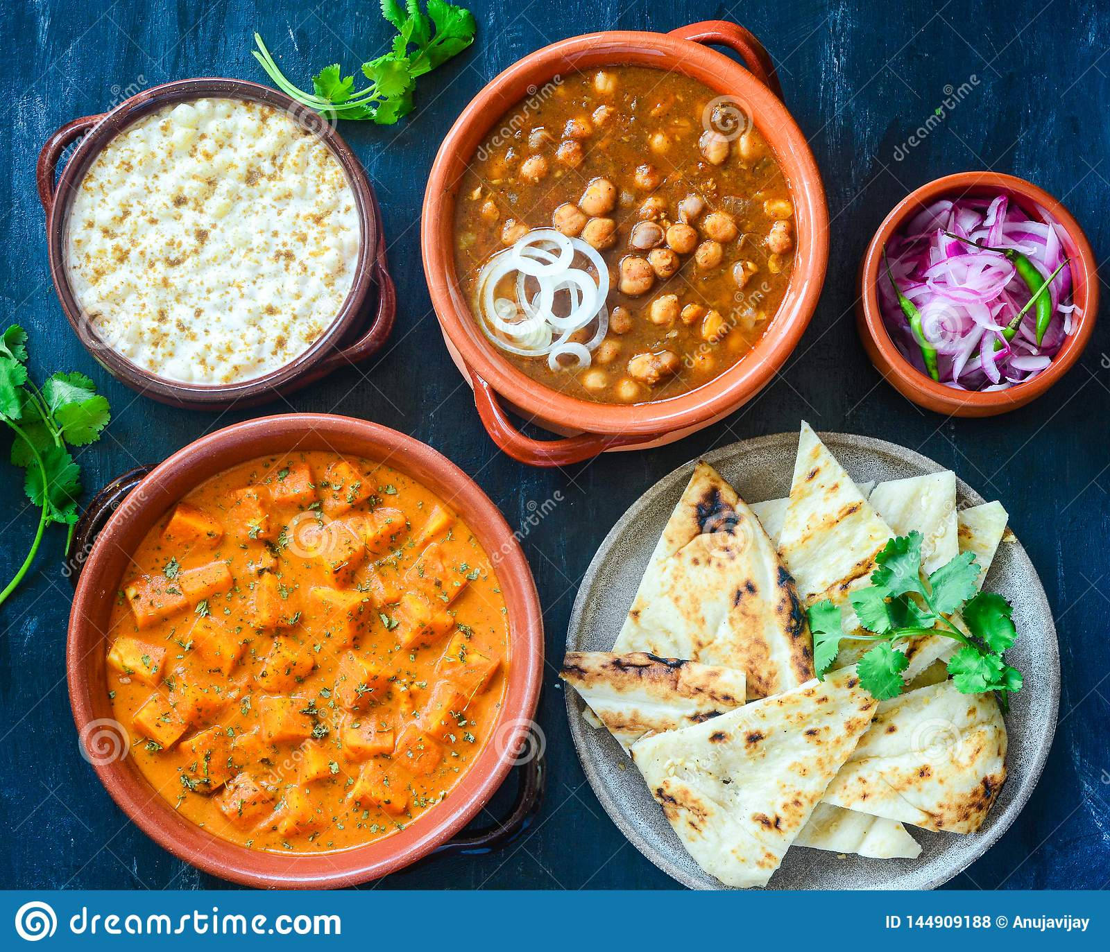 North Indian Platter Stock Photo Image Of Lunch Platter 144909188