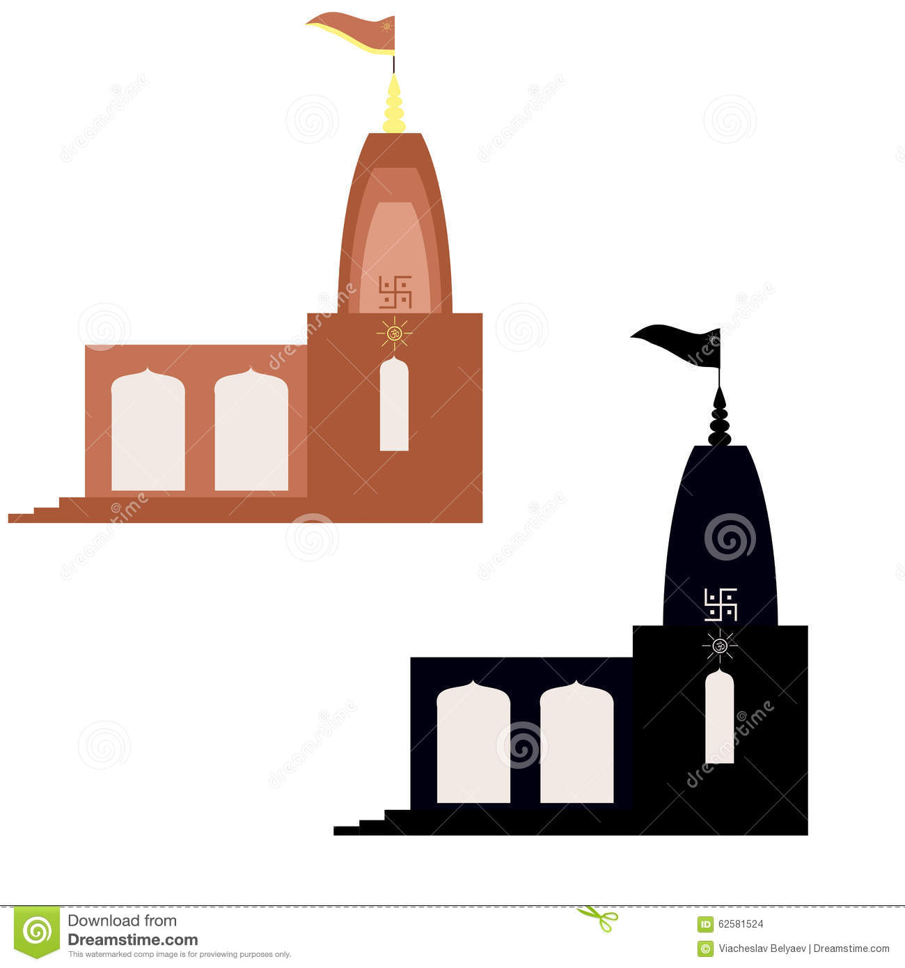 North indian style mandir stock vector illustration of shiva north indian style mandir biocorpaavc Gallery