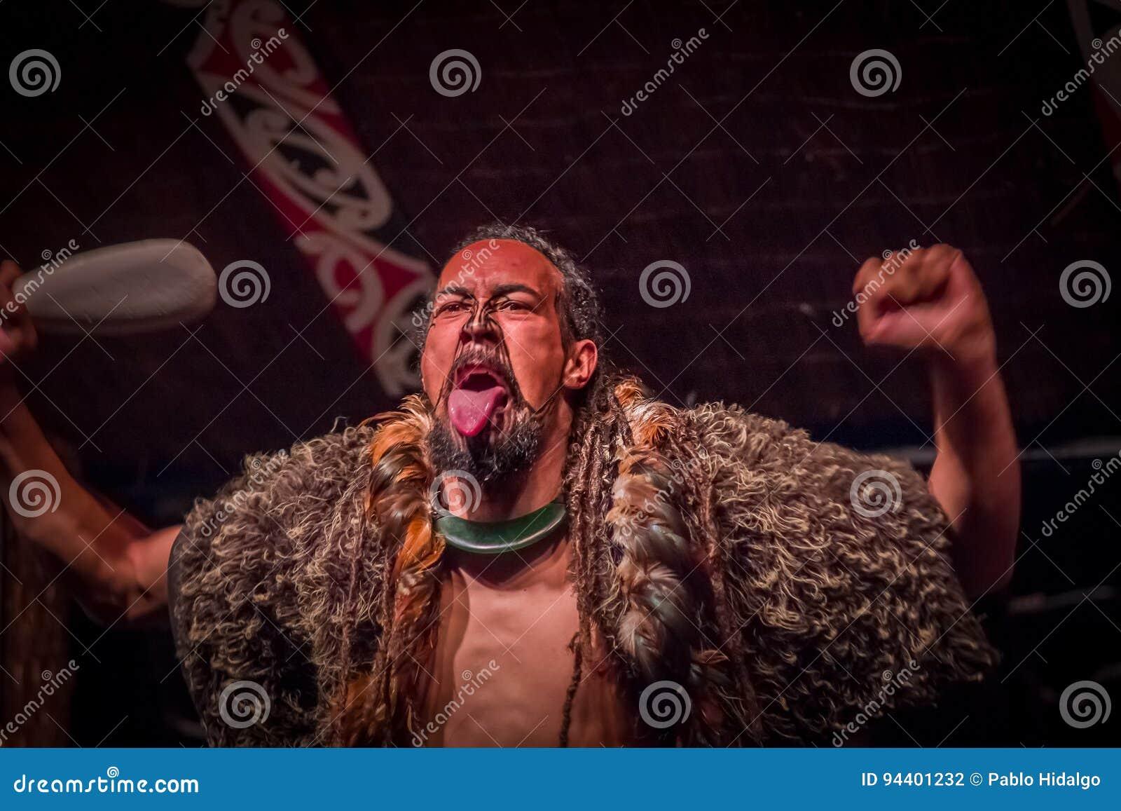 NORTH ISLAND, NEW ZEALAND- MAY 17, 2017: Tamaki Maori Man
