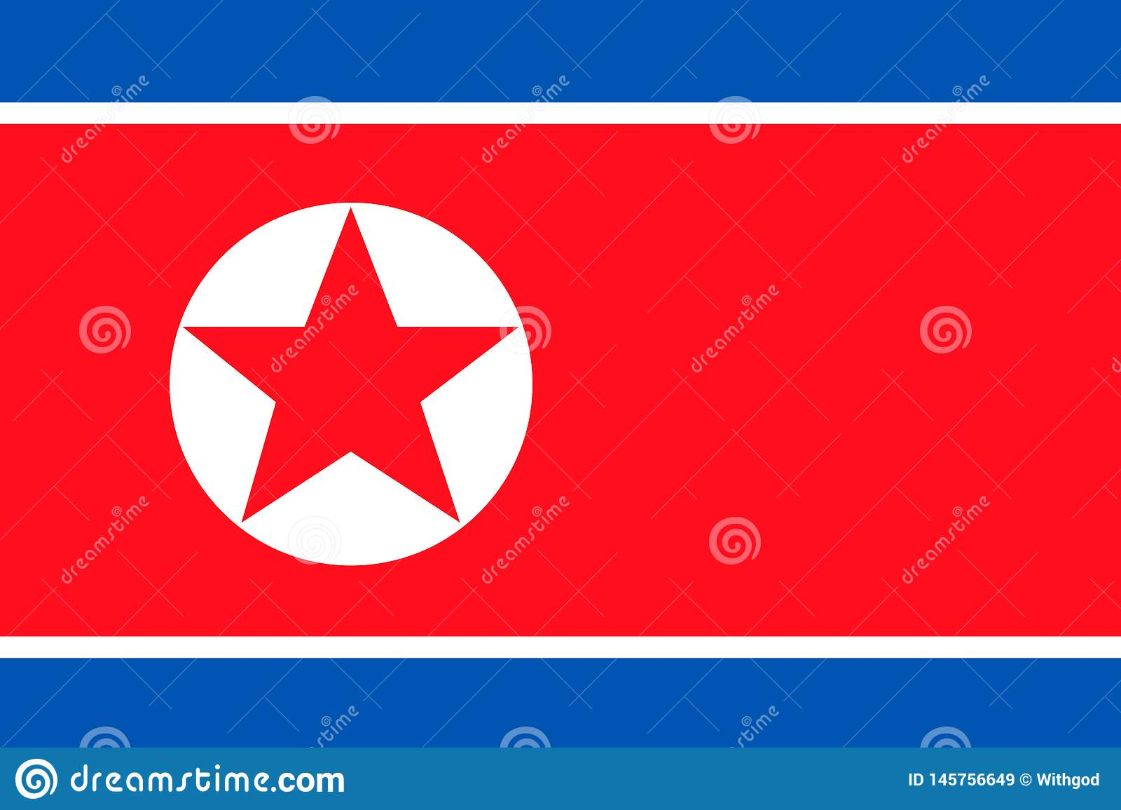 North korea flag