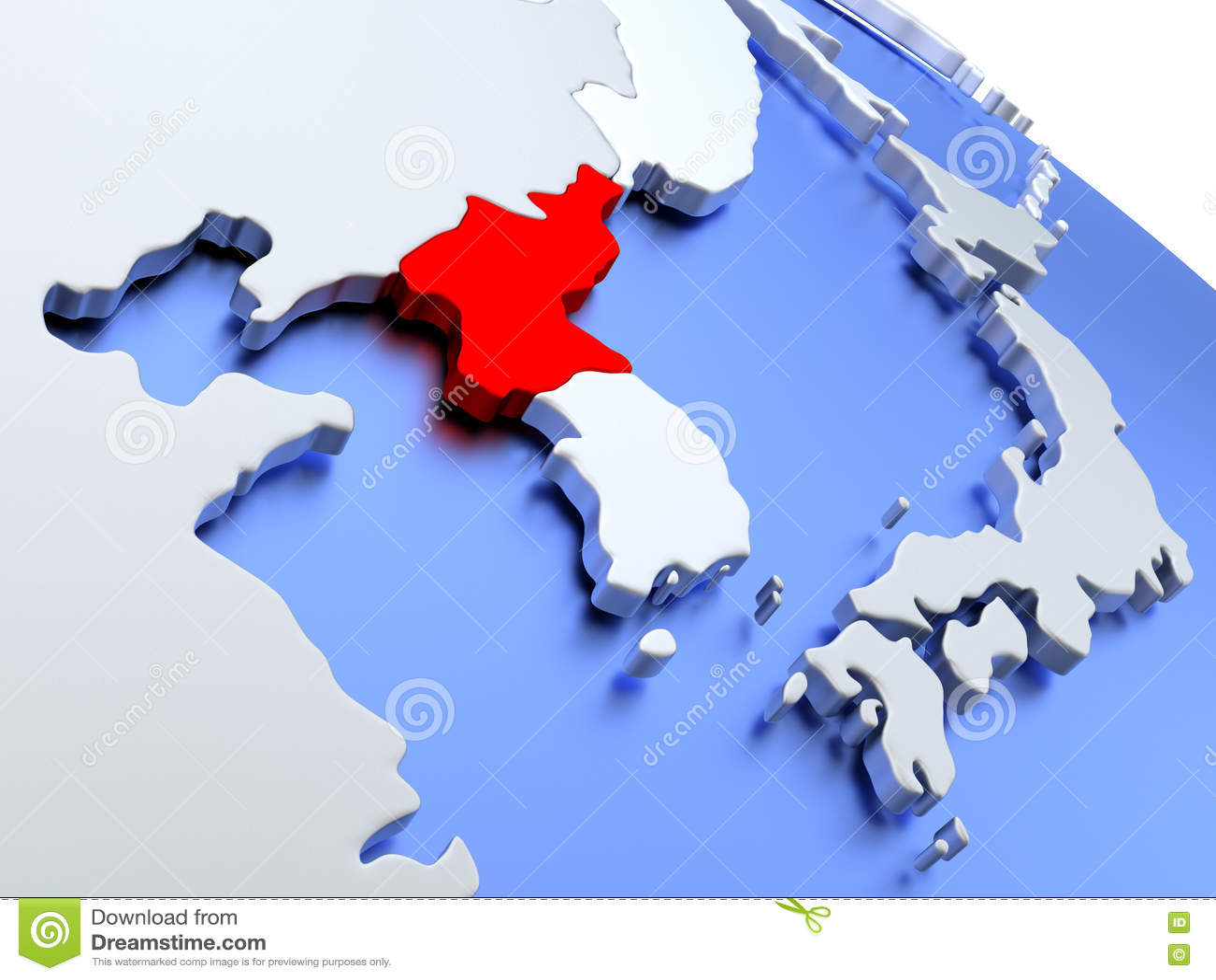 North korea on world map stock illustration illustration of north korea on world map gumiabroncs Choice Image