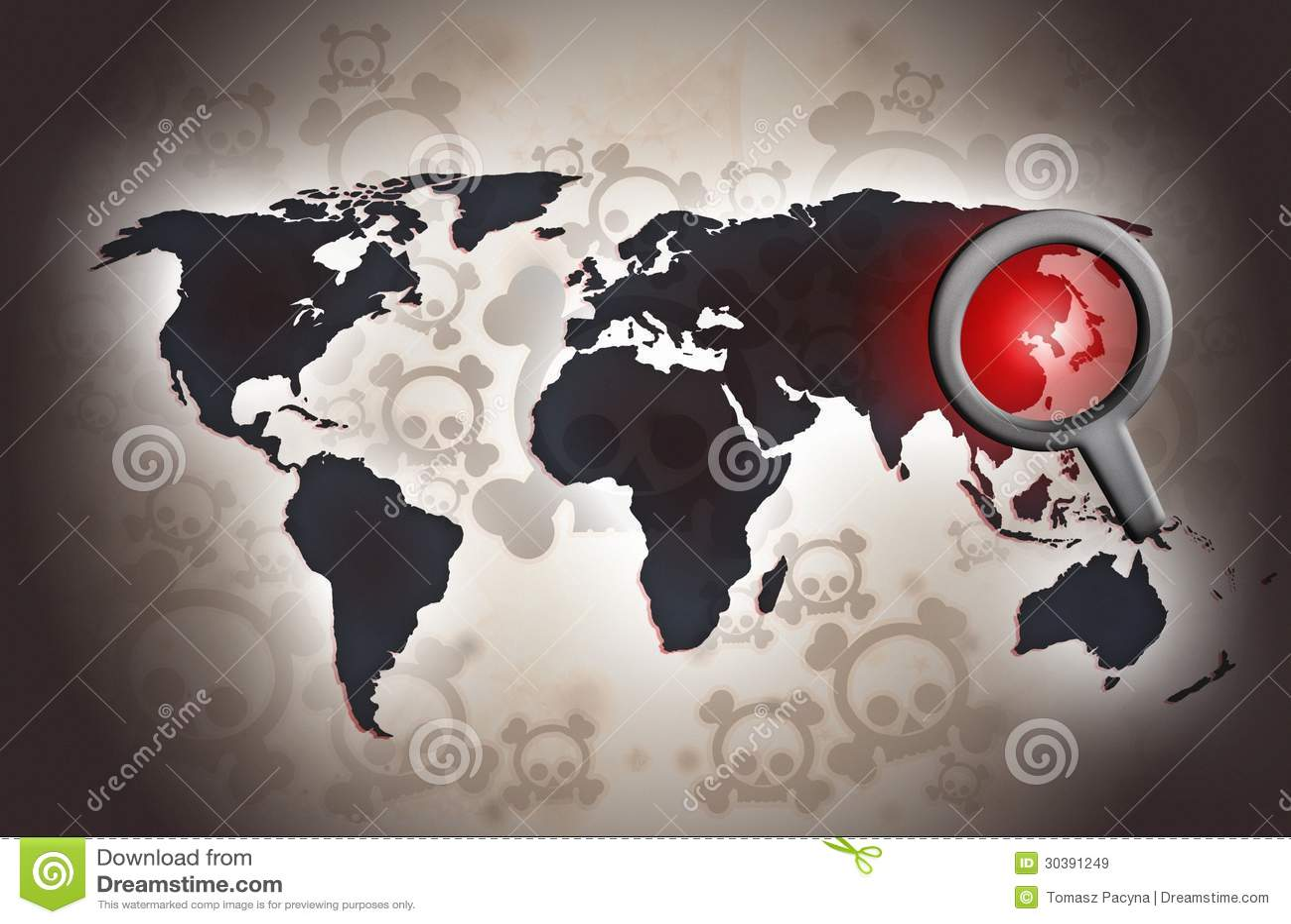 North korean conflict fear illustration