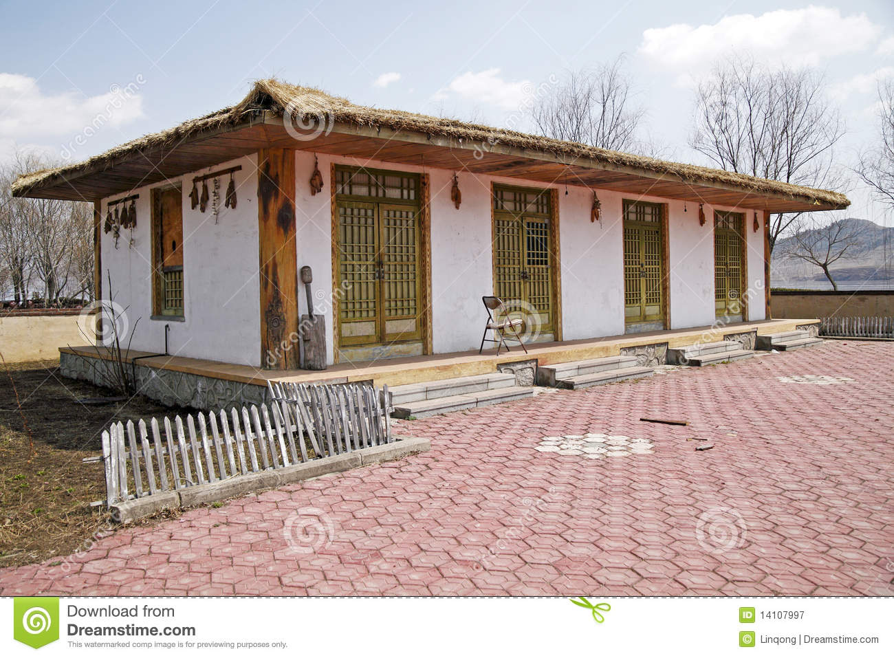 North Korean Traditional House Stock Image Image Of Trees History