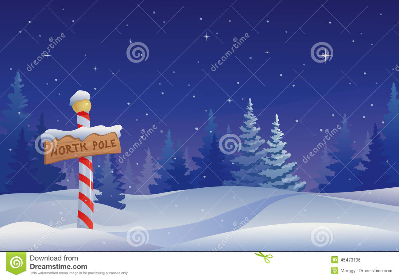 North pole stock vector. Illustration of image, holiday - 45473196