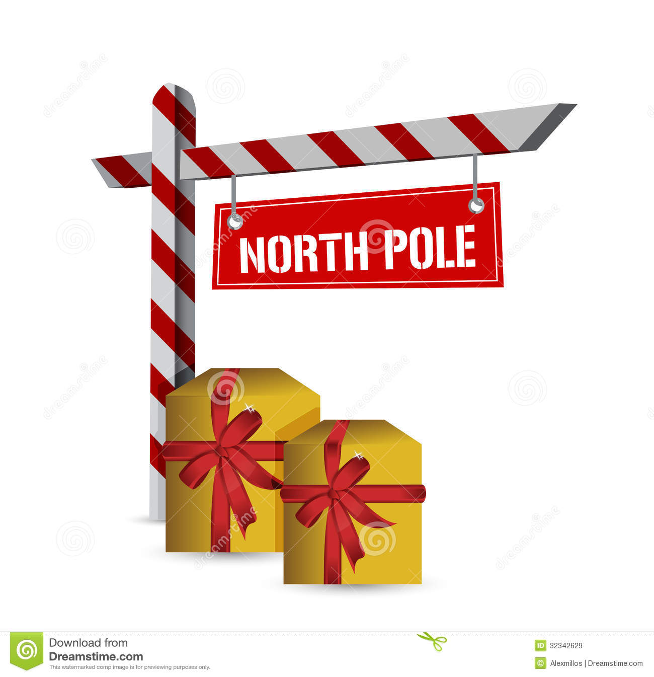 North Pole Gifts Sign Illustration Design Royalty Free Stock Images ...