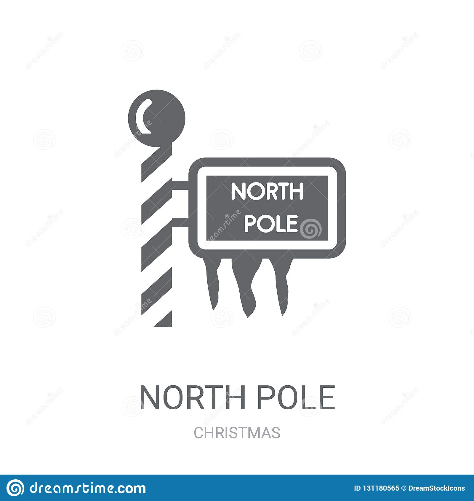 North pole icon. Trendy North pole logo concept on white background from Christmas collection