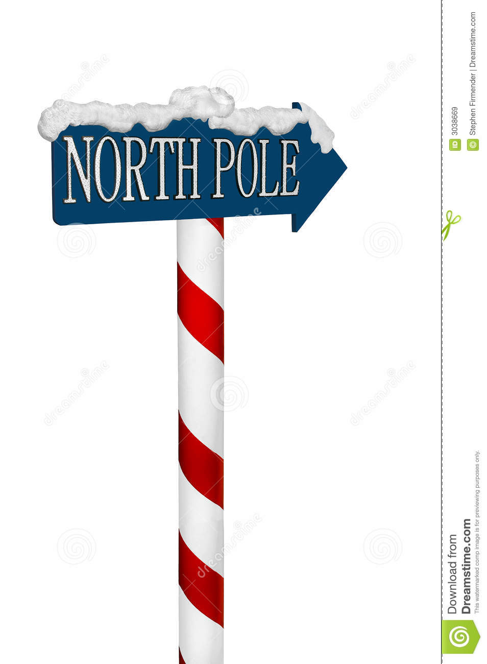 North Pole Sign Royalty Free Stock Images - Image: 3038669