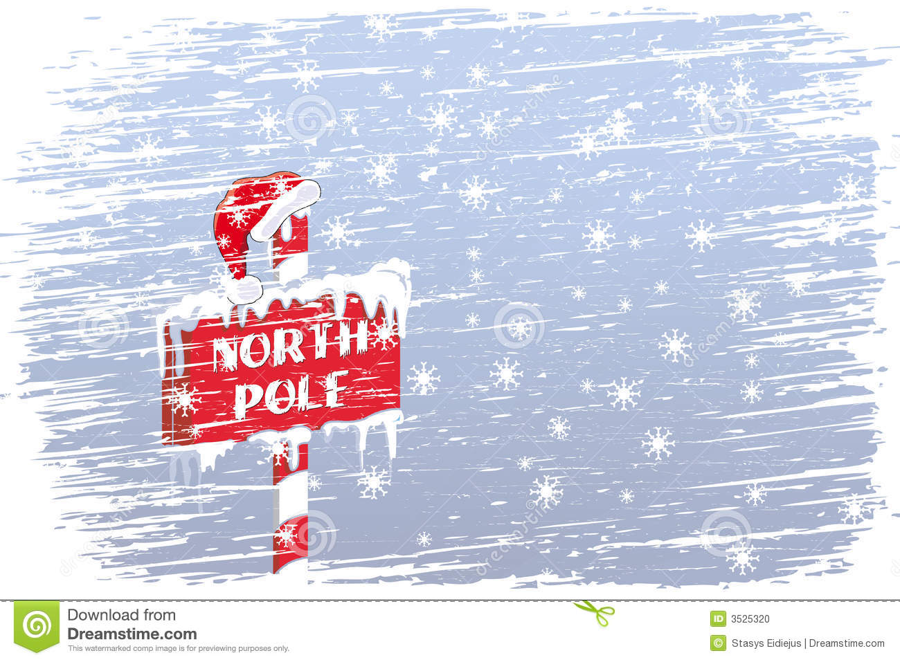 North Pole Sign Stock Photo - Image: 3525320