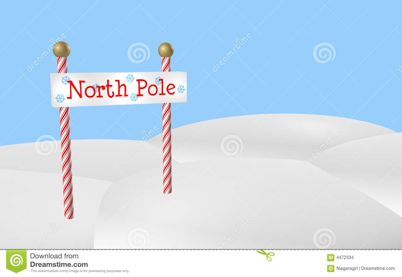 North Pole Sign Stock Images - Image: 4472334