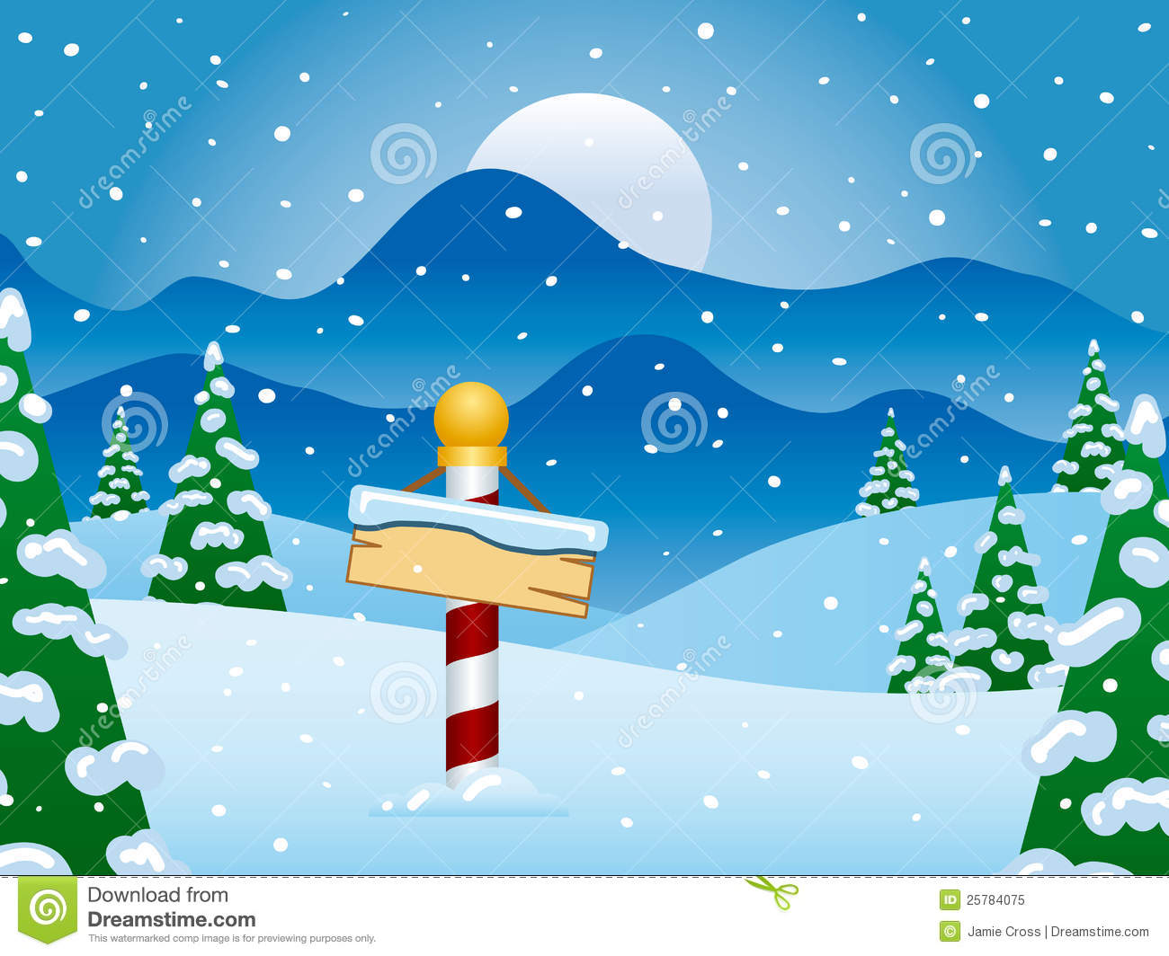 North Pole Winter Scene With Snow Royalty Free Stock Photo - Image ...