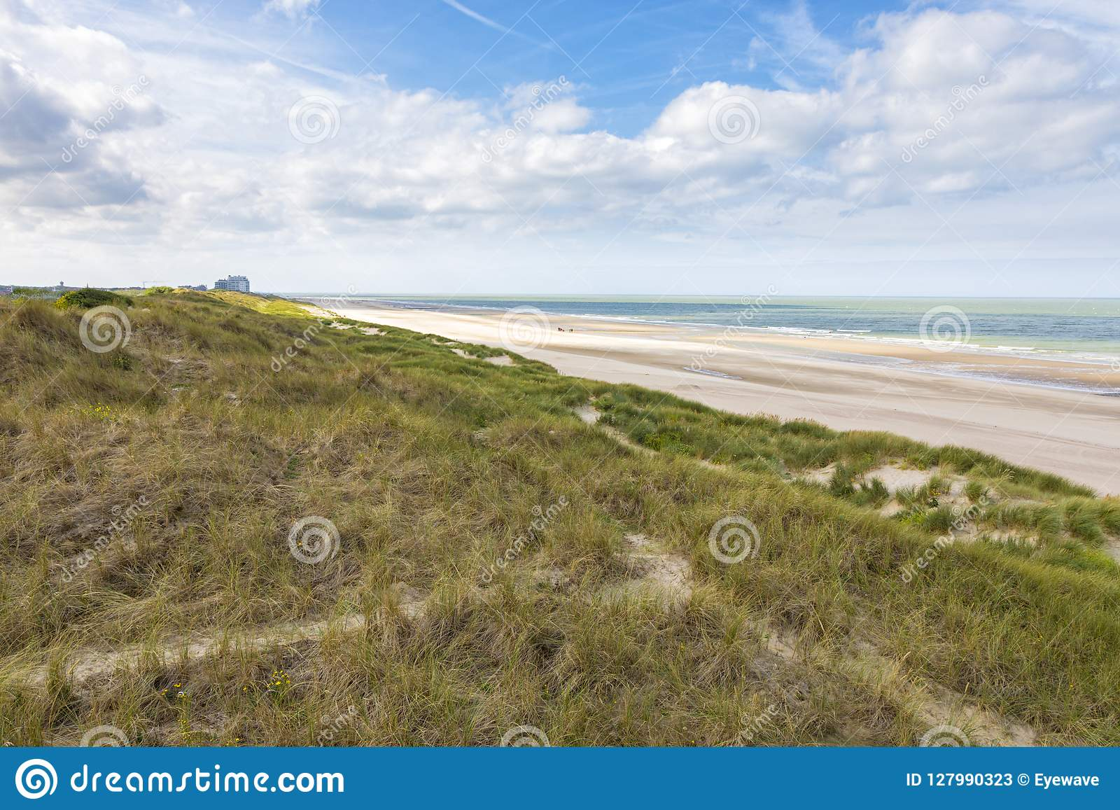 North Sea beach At Blankenberge, Belgium
