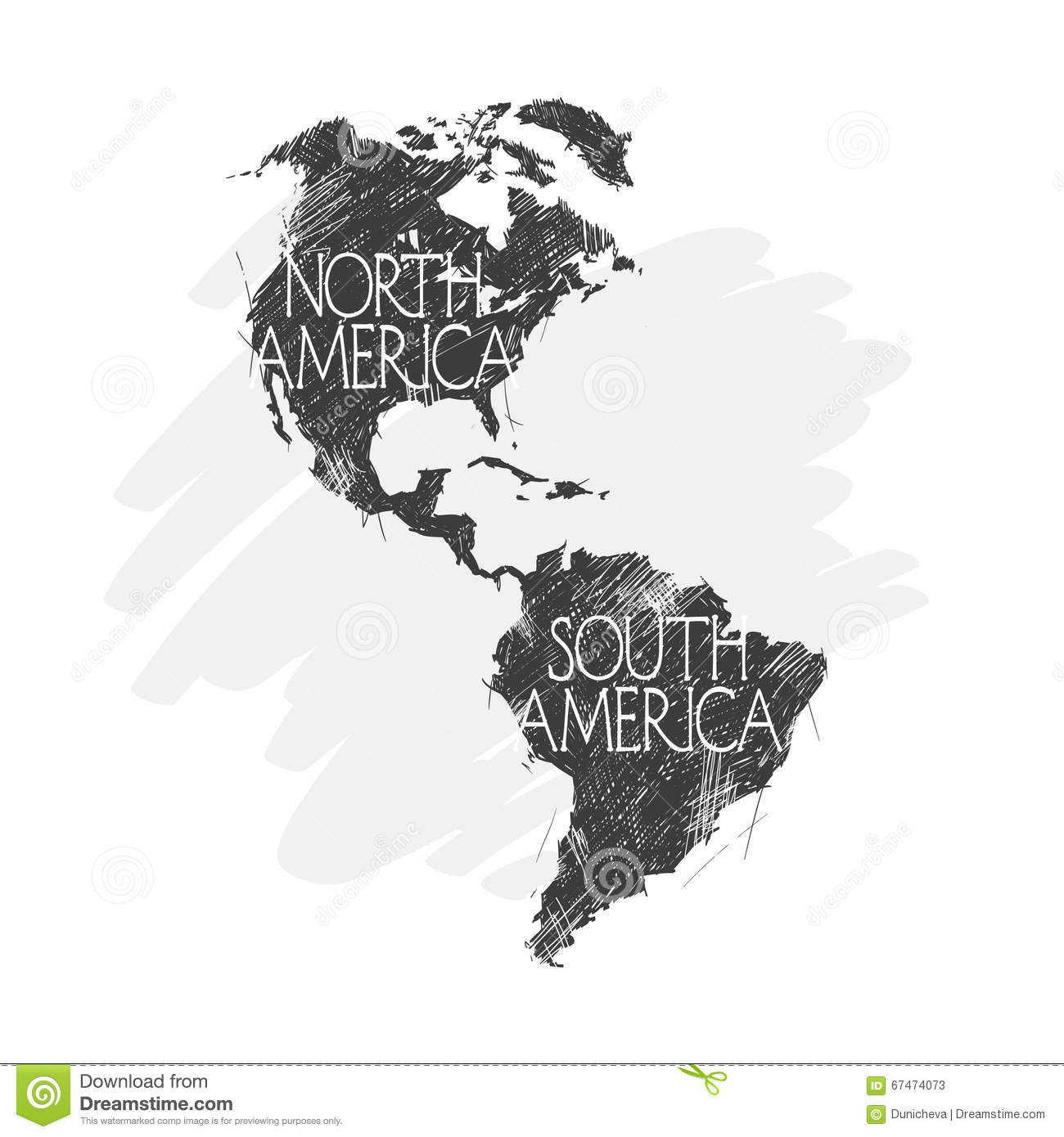 North And South America Map Background Vector Stock Vector Image - North and south america map