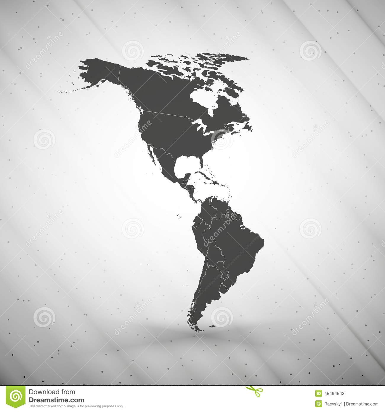 North And South America Map On Gray Background, Stock Vector ... on gray map of italy, gray map of scotland, gray map of poland, gray map of iran, gray map of france, gray map of cuba, gray map of brazil, gray map of korea, gray map of india, gray map of mexico, gray map of america, gray map of georgia, gray map of germany, gray map of asia,