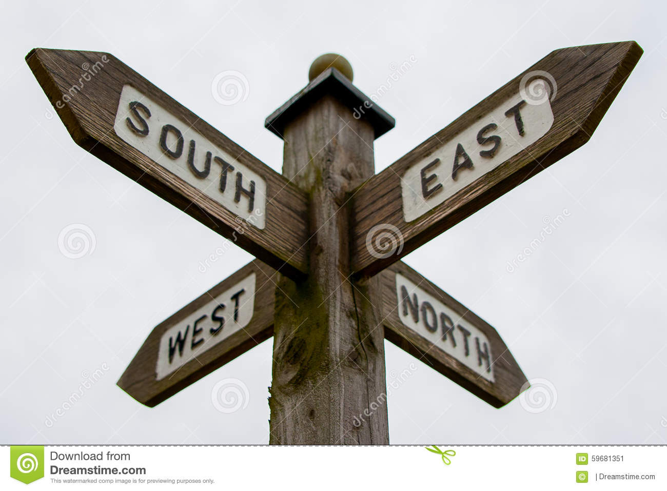 north south east west signpost stock image image of compass east