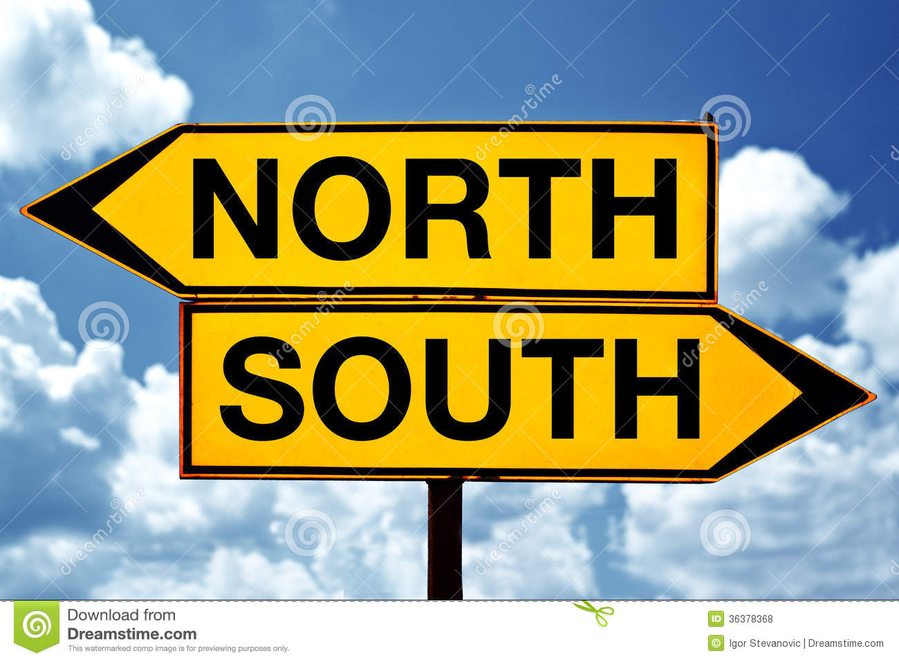 how to tell north from south