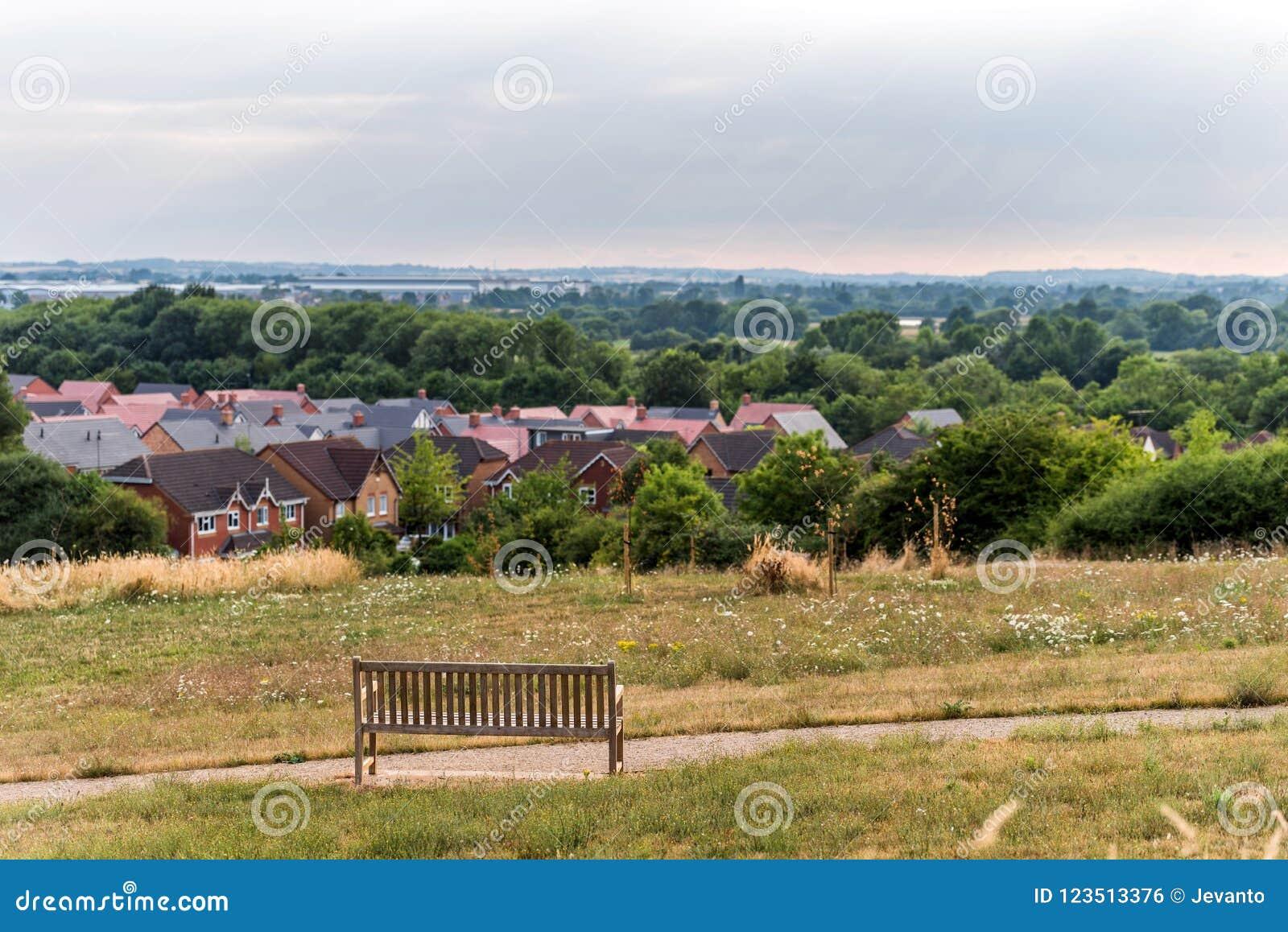 Northampton Town Stadtbildskyline mit Bank inforeground Vereinigtes Königreich