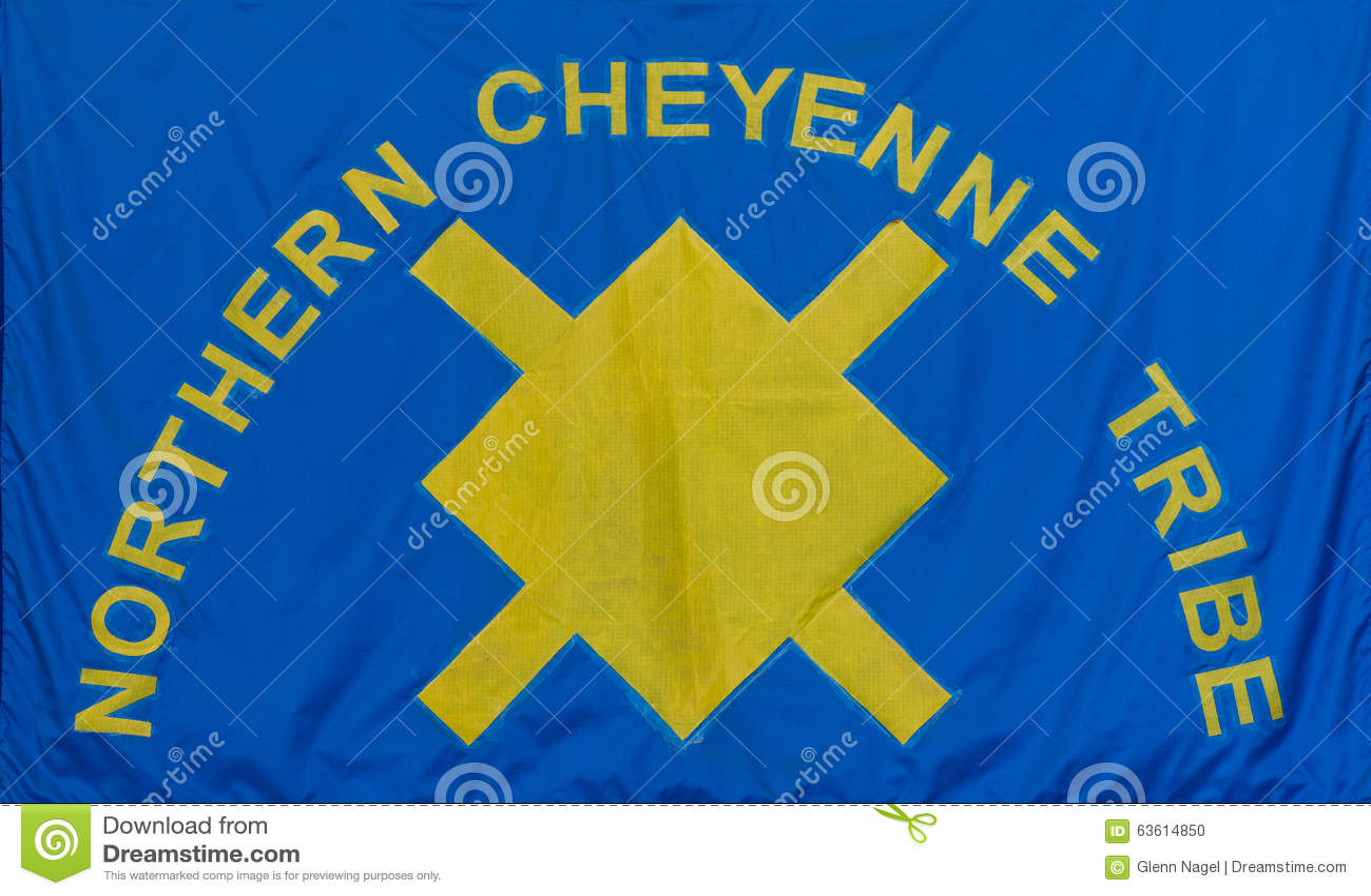 Northern Cheyenne Tribe Flag Editorial Image - Image: 63614850