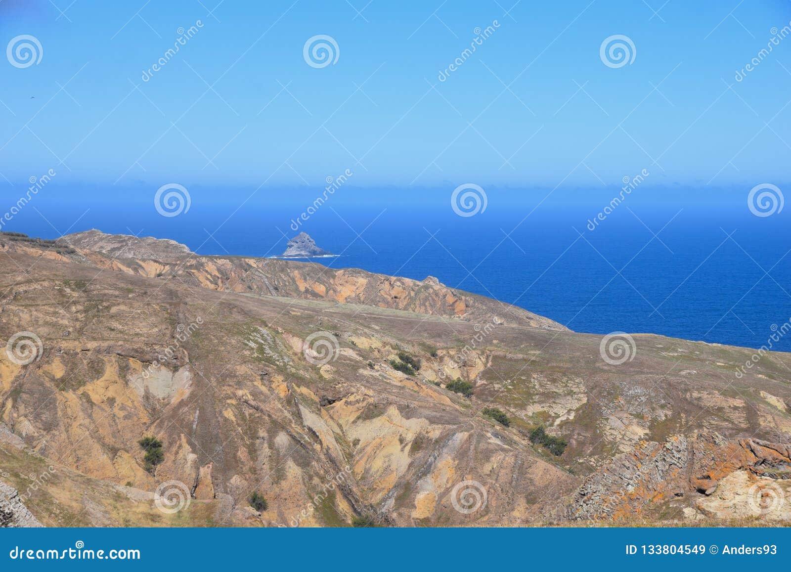 The northern coast near Camacha in Porto Santo, Madeira, Portugal