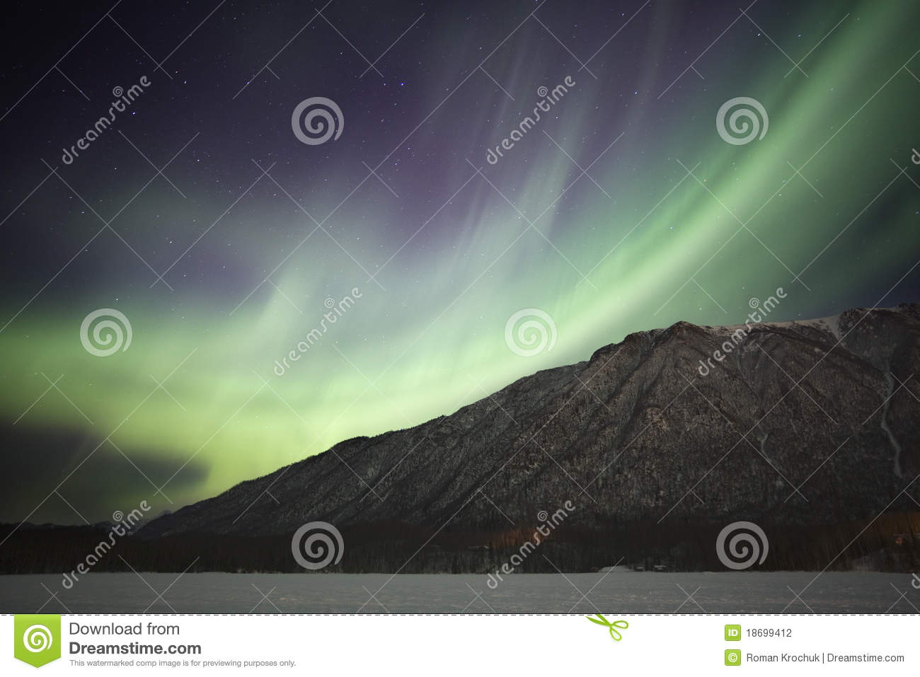 Download Northern Lights Over Mirror Lake Near Anchorage AK Stock Photo - Image of skyscape, lights: 18699412