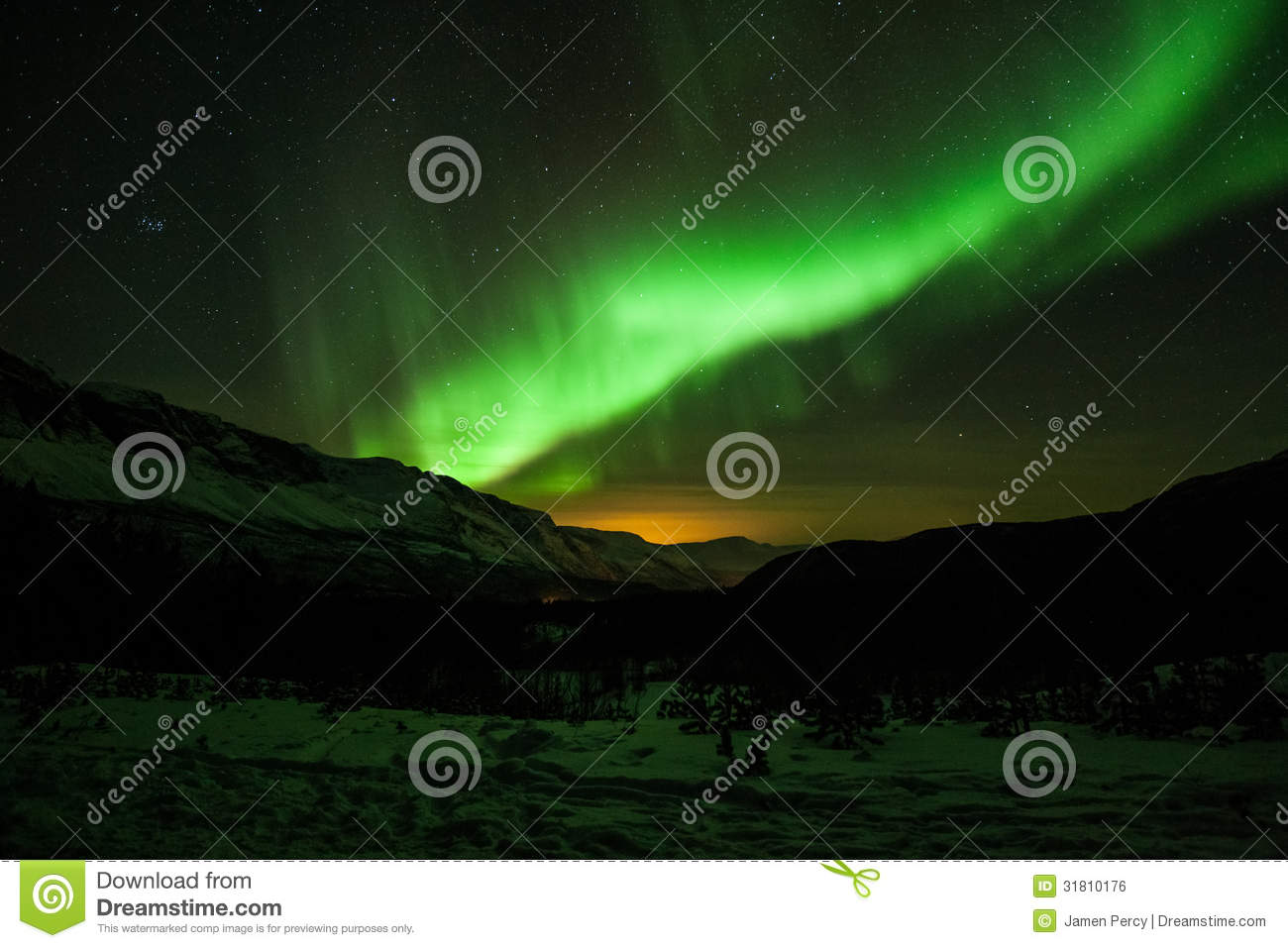 northern lights in sweden forest stock photo image of green