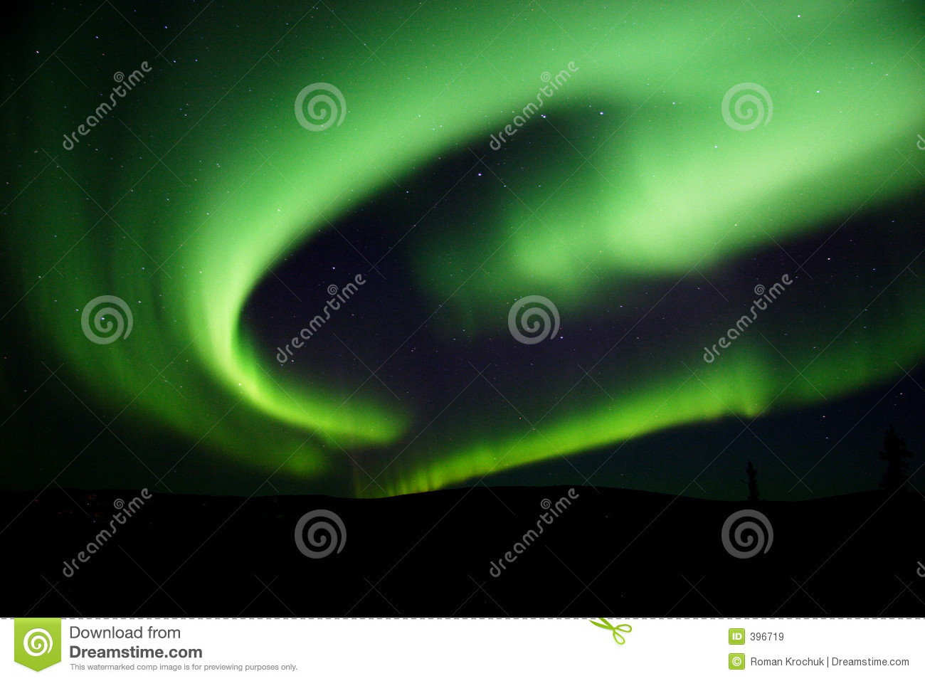 Download Northern Lights Swirling In The Sky Stock Image - Image of aurora, night: 396719