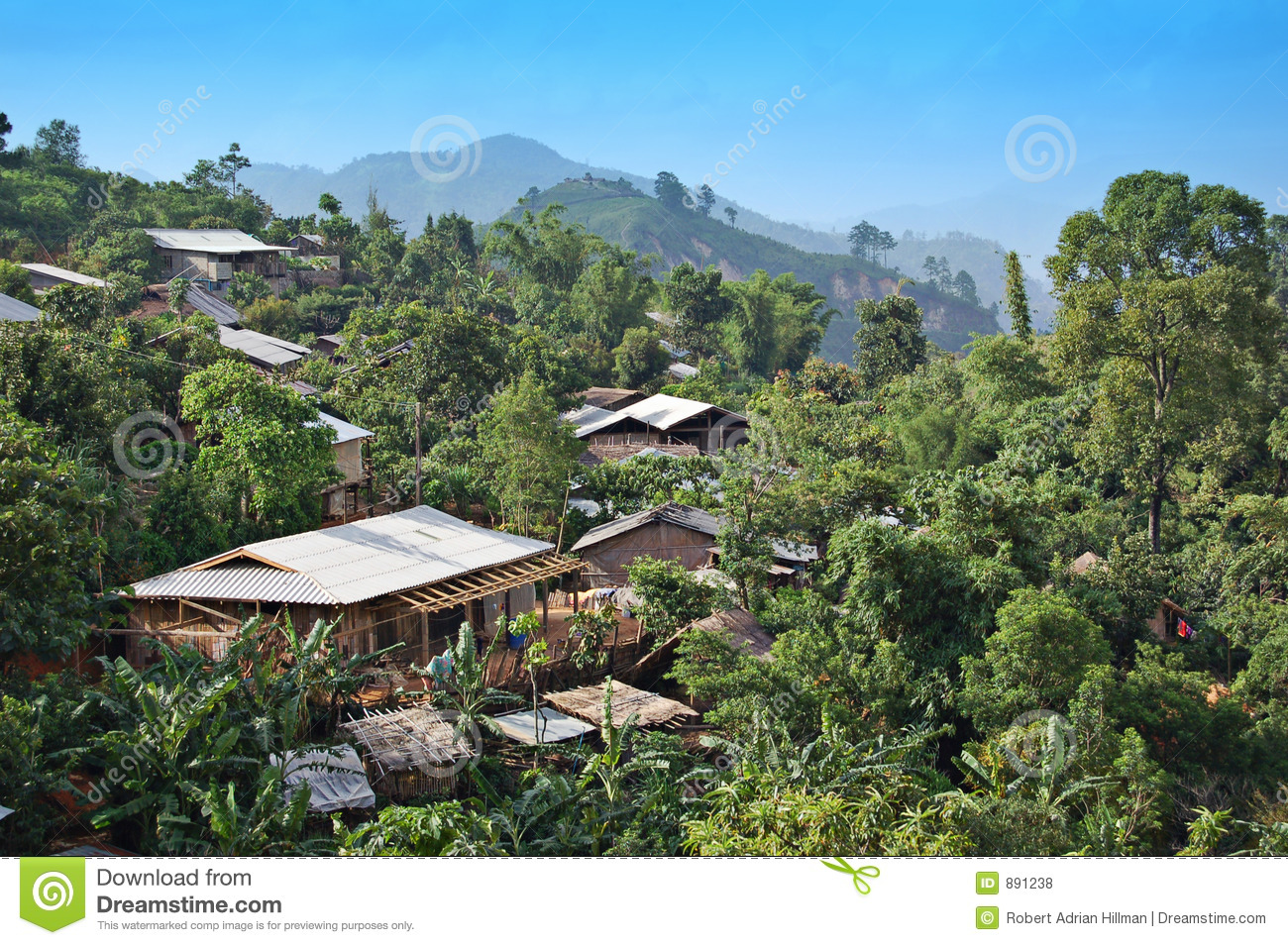 Northern Thai Village Royalty Free Stock Photos - Image: 891238