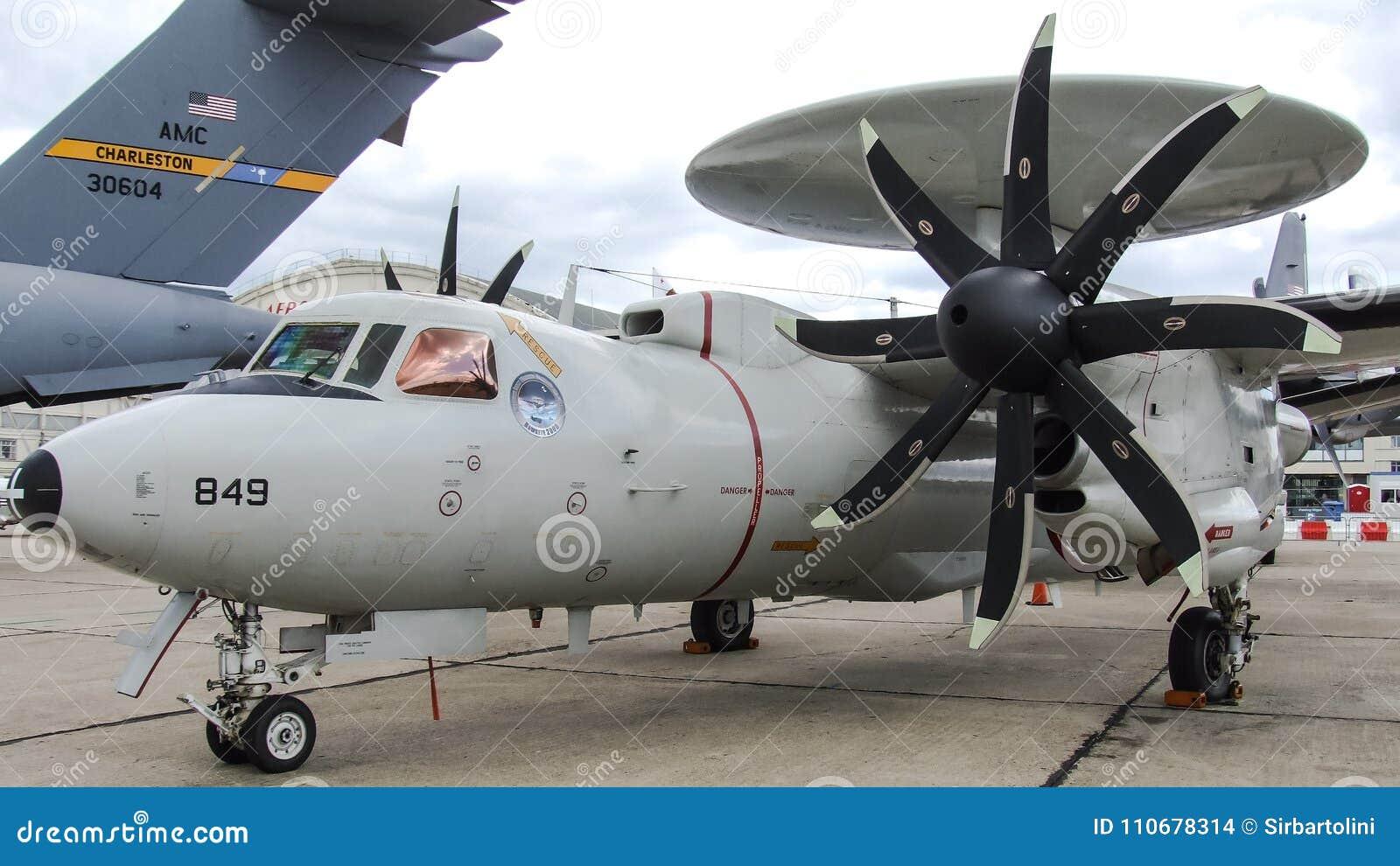 Northrop Grumman E-2D Hawkeye At Le Bourge  Editorial Stock Image