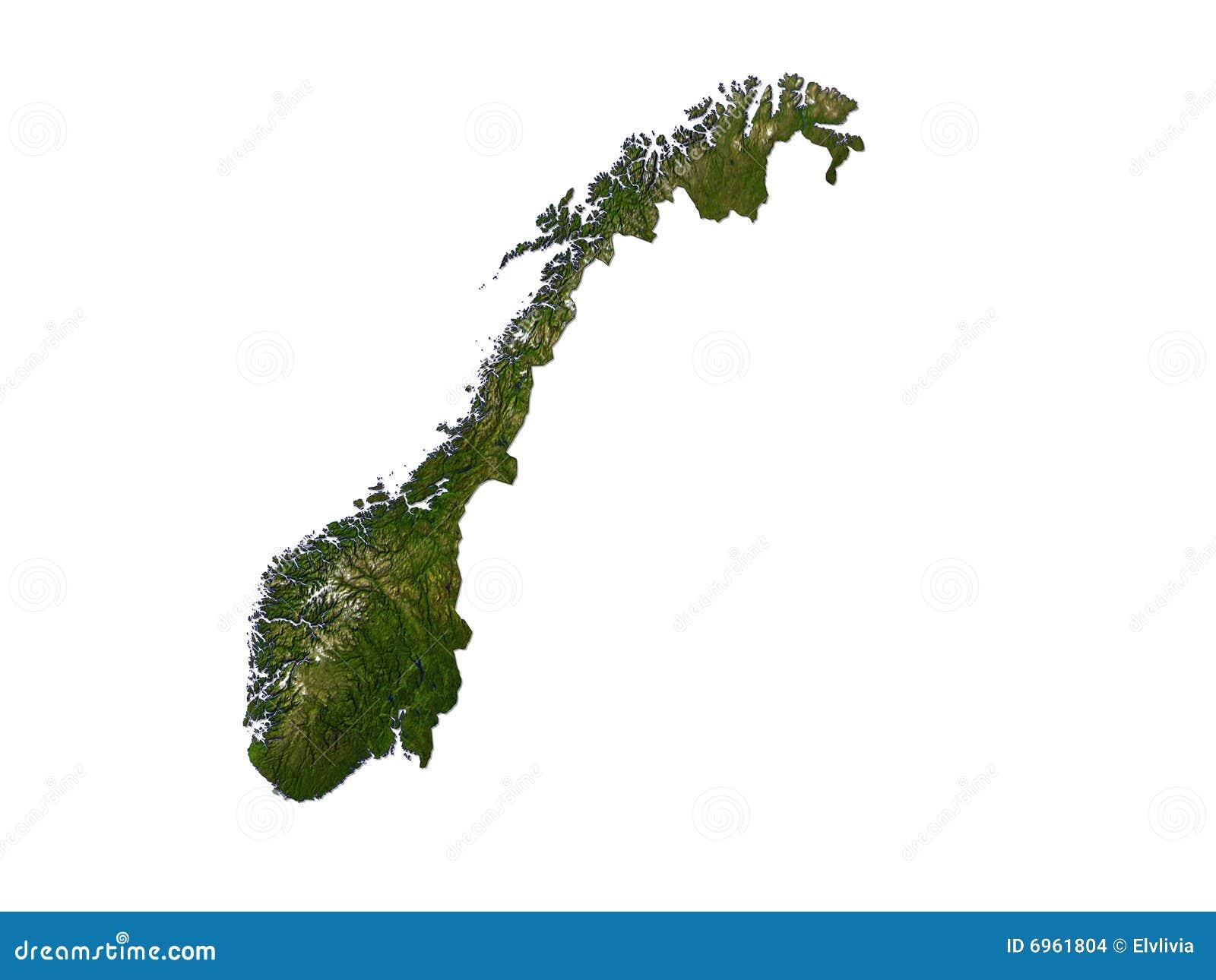 Noruega en el fondo blanco
