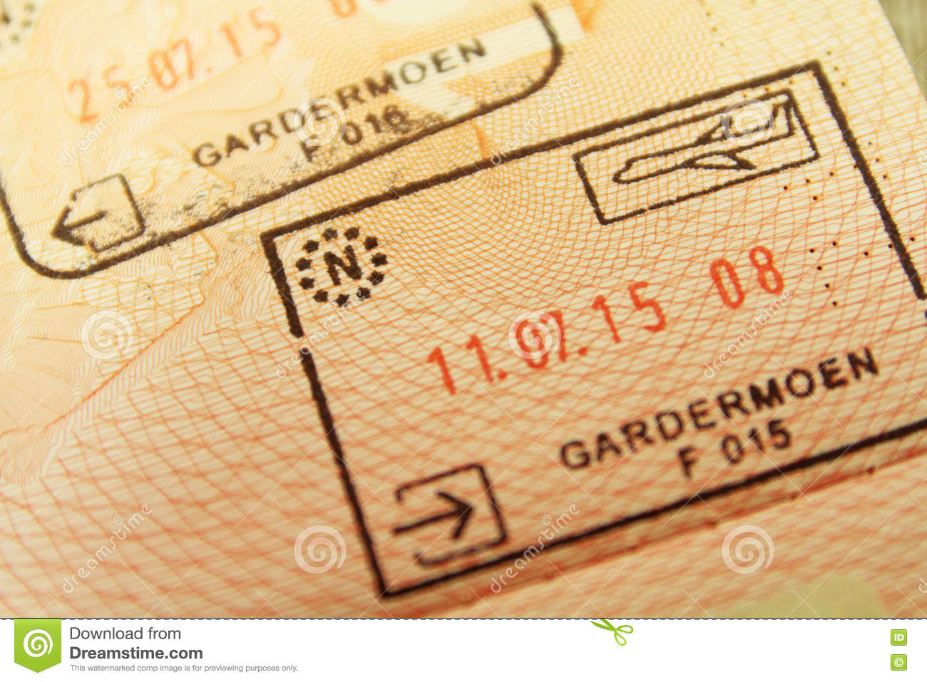 Entry Stamp From Gardermoen Airport In Oslo Norway