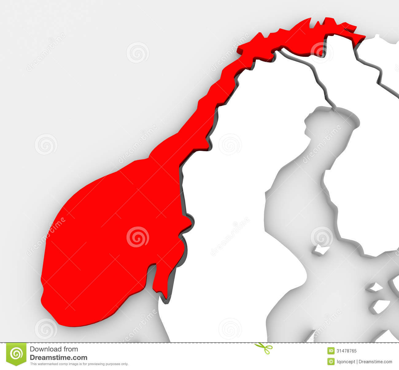 Norway Abstract D Map Europe Scandinavia Country Royalty Free - Norway map free