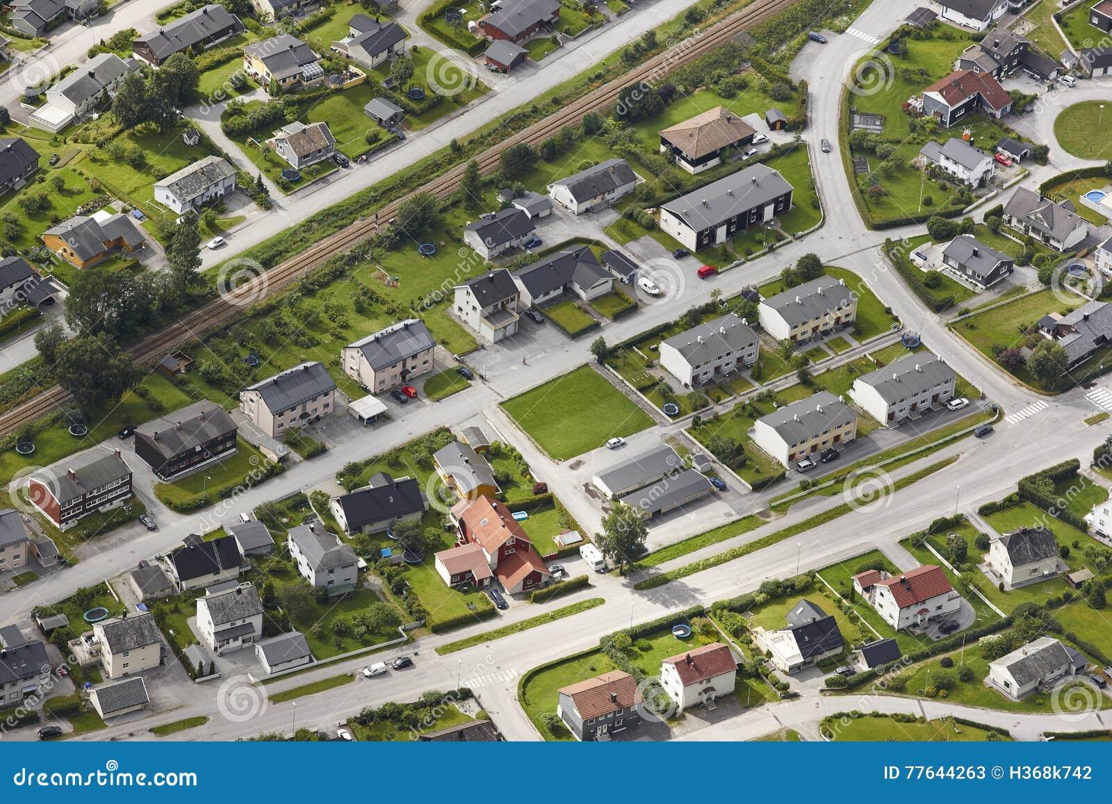 Norway Aerial European Rural City View Andalsnes Nesaksla Vie