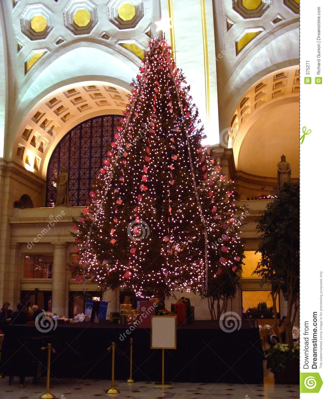 Norway Christmas Tree stock image. Image of arches, station - 375271