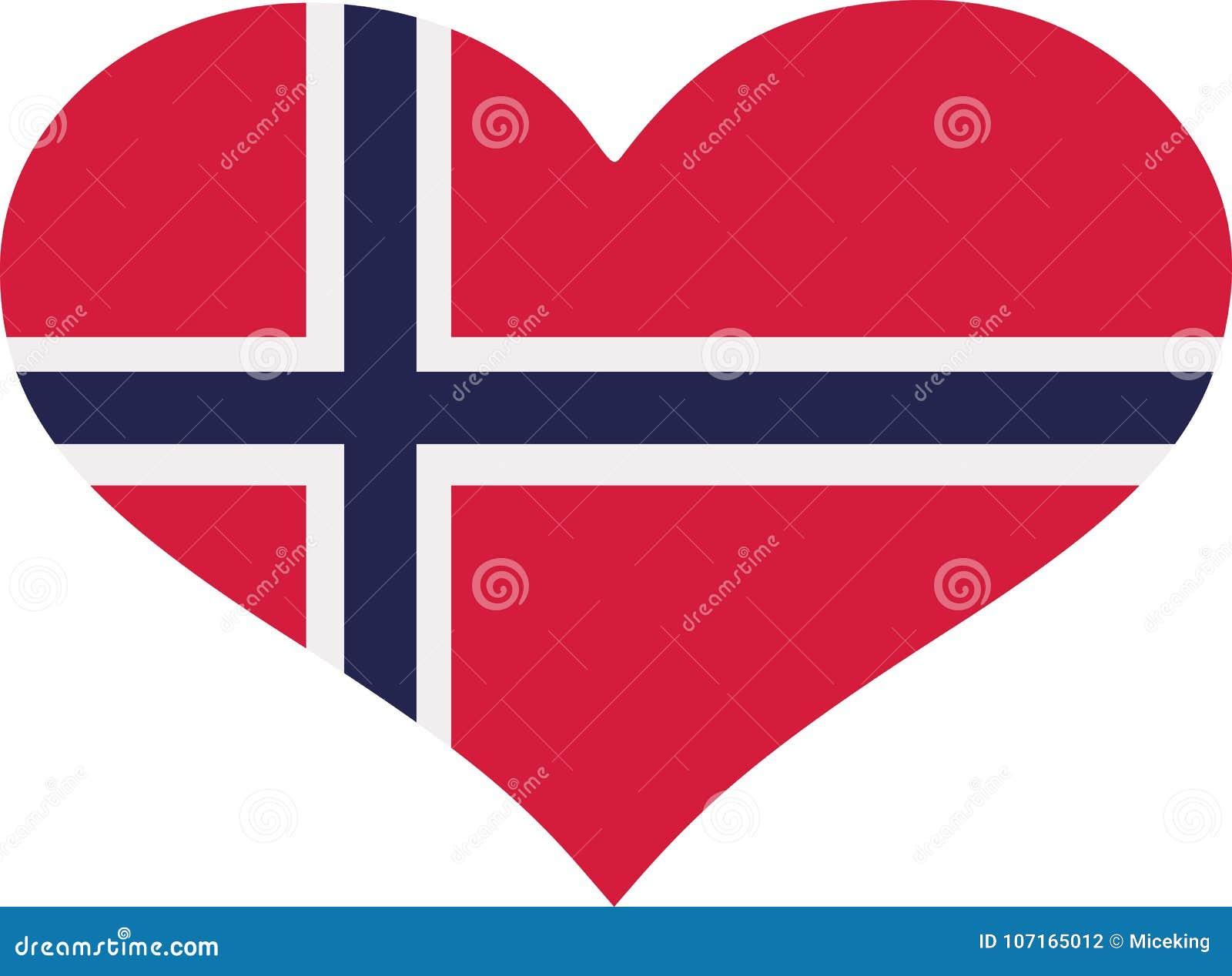 Norway flag heart
