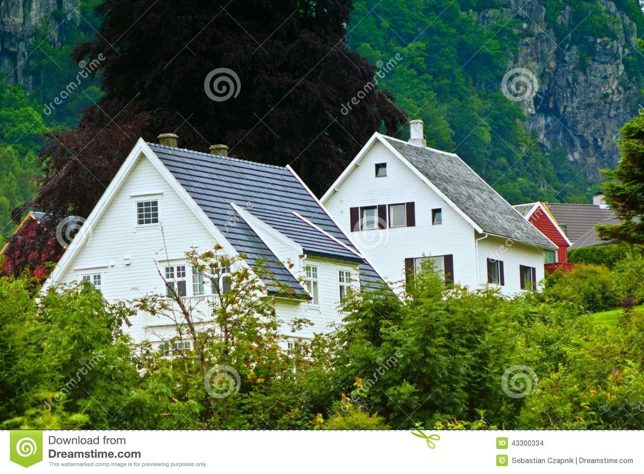 Norway houses in mountains stock photo image of for Homes in the mountains