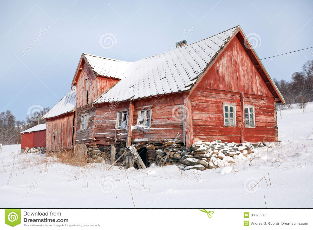 Norway traditional rural wooden house in ruins stock for Norway wooden houses