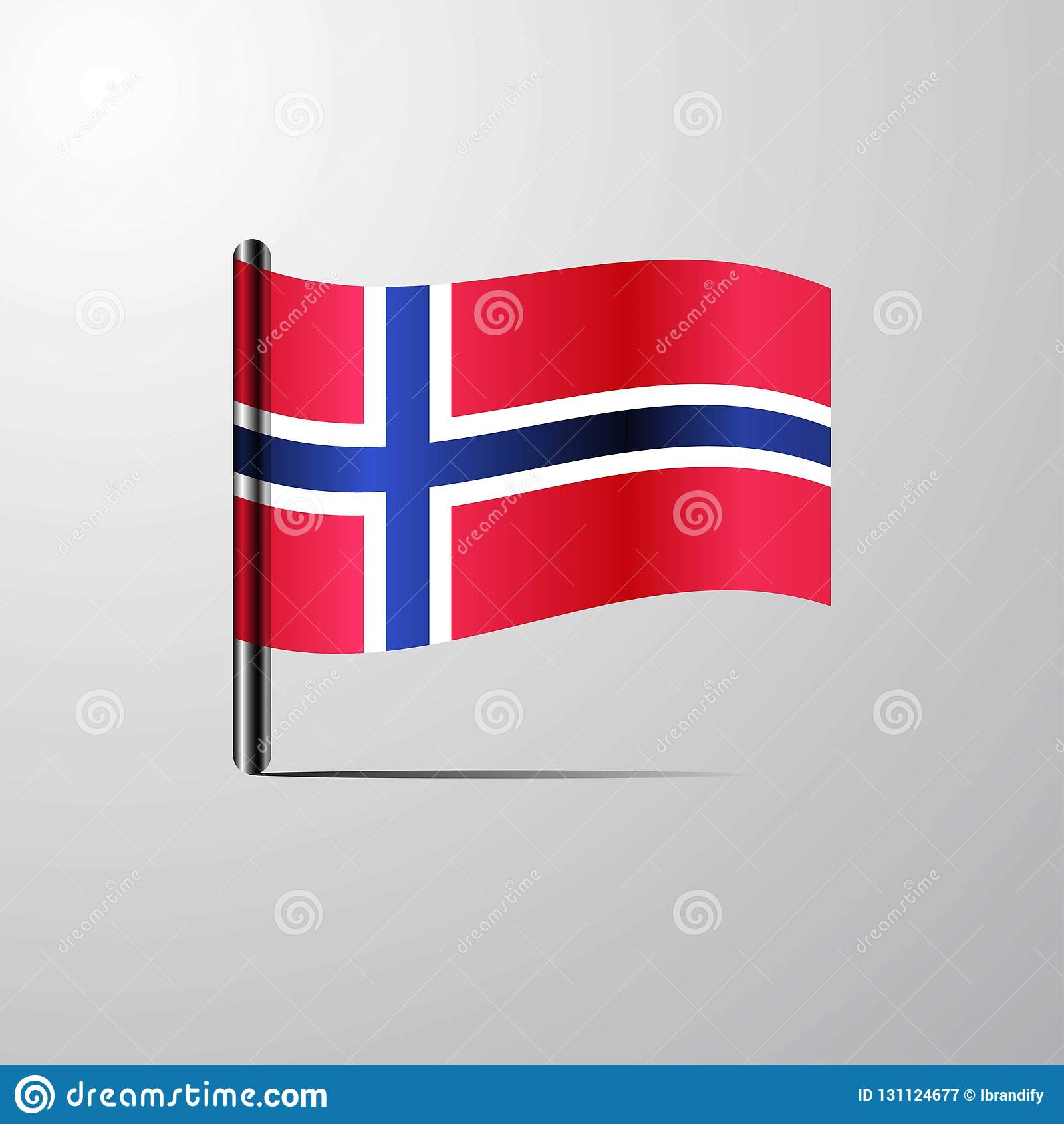 Norway Waving Shiny Flag Design Vector Stock Vector ...