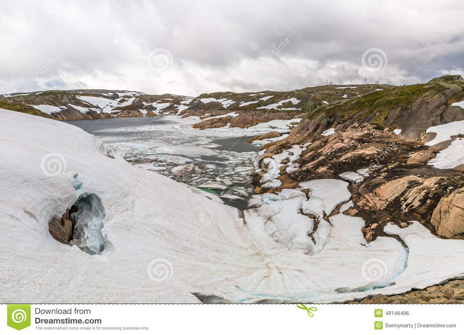 Norwegia jeziora halny krajobraz