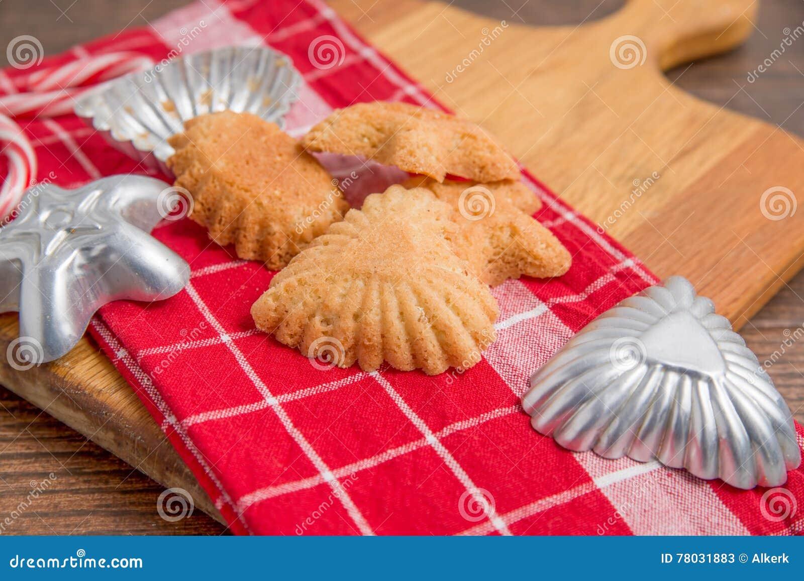 Norwegian Christmas Cookies Sandbakkels Stock Image Image Of